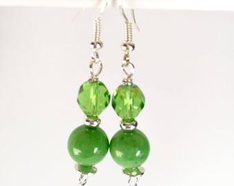 Lime Green Earrings - Lime Green Dangle Earrings - Green Statement Earrings - Colorful earrings