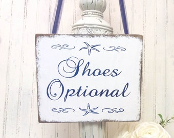 SHOES Optional Beach Wedding Reception sign rustic wooden handmade wooden, cottage wedding, woodland wedding, wedding planner