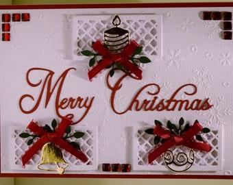 Merry Christmas Triple Ornaments