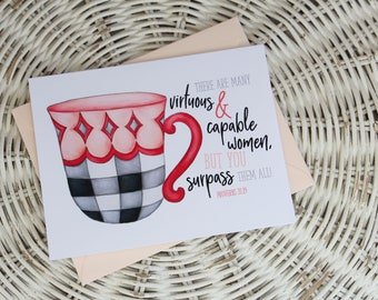Notecard - Proverbs 31 Teacup