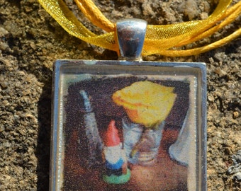 A Gnome Comes to Dinner Pendant