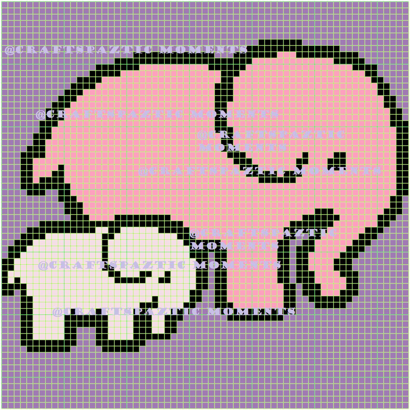 Elephant and Baby c2c graph graphghan crochet throw blanket animal ...