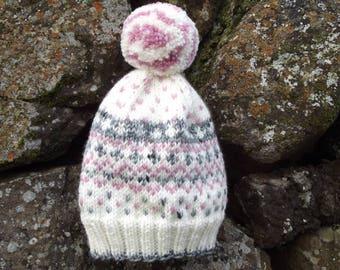 Hand Knit Nordic Ski Hat