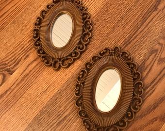 Vintage 1970s Mirrors / Wall Decor / Boho