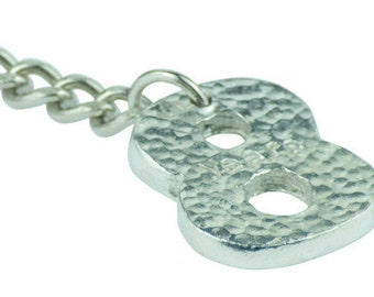 8th Year Anniversary Stamped Keyring - Lovely Unique 8 Year Anniversary Gift Idea …