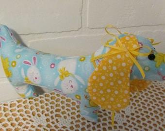 Stuffed Dachshund, Nursery decoration, Kids Gifts, Plush, Baby Gift, Dachshund, Doxie, Spring Gift, Baby Shower gift, Baby