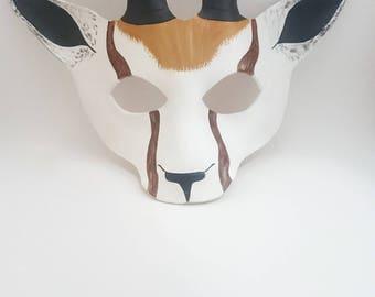 Leather African Springbok Mask / Animal Mask / Deer mask