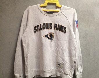 Team NFL ST Louis Ram Crewneck Sweatshirt Arm Logo Good Condition