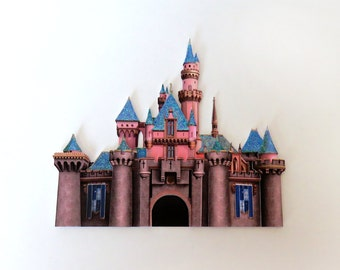 Disneyland castle - Sleeping Beauty's castle - handmade scrapbook embellishment
