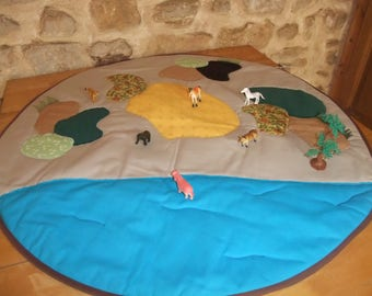 Round playmat land and sea for figurines (not sold figure)