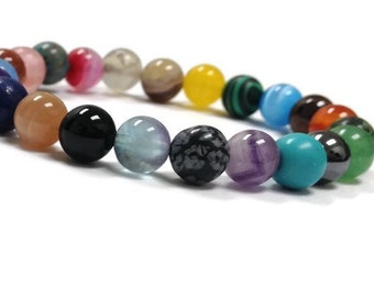 All-mixed gemstones bracelet (you choose your stones)