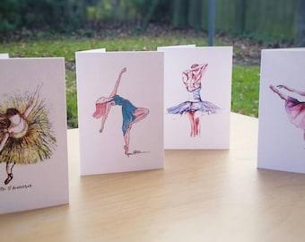 Mini dancer notelets