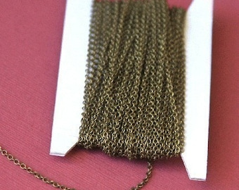 100 ft of Antiqued Brass chain round cable chain 2X2.5mm