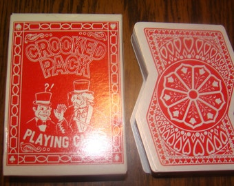 Novelty Deck Of Crooked Playing Cards (COMPLETE)