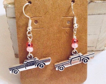 Pink Cadillac Earrings