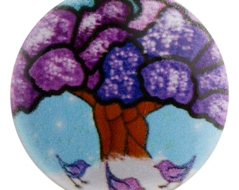 Tree of life Enamel snap charm will fit GingerSnaps jewelry. 20 mm snap button for 18-20 mm snap jewelry Magnolia & Vine and Noosa.