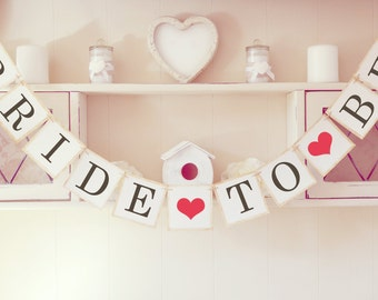 Bride to Be bunting banner, Bridal shower decoration, Hen do party
