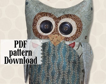 Ollie the Owl PDF Download Sewing Pattern