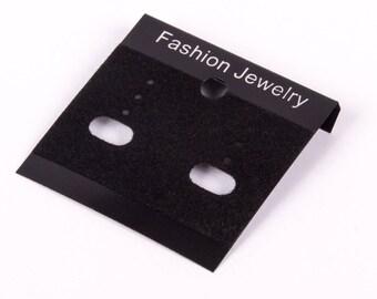 50 supports black Stud Earrings