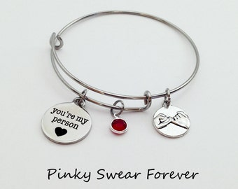 Grey's Anatomy, Youre My Person, You're My Person Bracelet, Pinky Promise, Pinky Swear, Gift for Girlfriend, Gift for Wife, Girlfriend Gift
