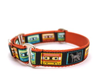 "1"" Mixed Tape buckle or martingale dog collar"