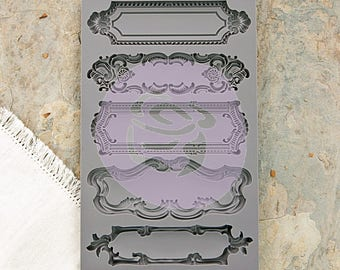Beautiful Baroque IOD - Iron Orchid Designs Silicone Mold,Mould Object Label 1, One