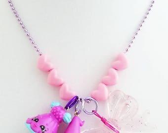 shopkins charm necklace gift for little girl stocking stuffer