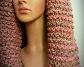 Chunky scarf, pink scarf, winter warmer, mothers day gift