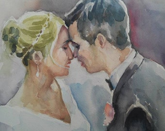 Custom Portraits in Watercolor - Experienced Artist - Wedding, Family, Personal
