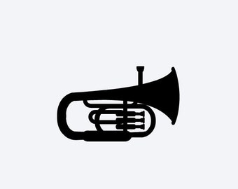 Tuba Vinyl Decal, Cell Phone Decal, Tablet Decal, Car Decal, Wall Decal, Personalized