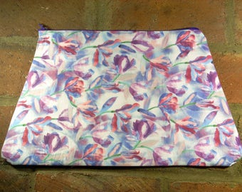 Flower Garden Triangle Clutch Bag
