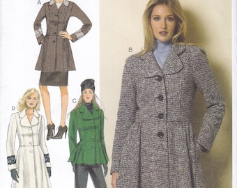 FREE US SHIP Butterick 6143 Fitted Flared Jacket Coat Sewing Pattern Size 6 8 10 12 14 16 18 20 22 Bust 30 31 32 34 36 38 40 42 44  new