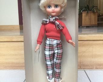 Vintage Rosebud Mod Doll - 1960s - British Mod Teen Doll - ORIGINAL BOX