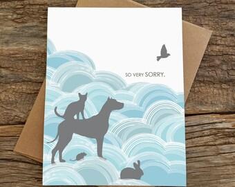 pet sympathy card / loss of a pet card
