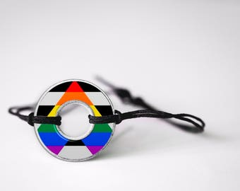 Straight Ally Washer Bracelet
