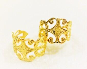 Vermeil,  gold ring, vermeil 18k gold over 925 sterling silver adjustable ring, matte gold ring, one size ring, adjustable ring,