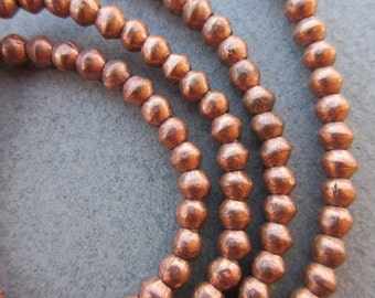 African Copper Spacer Beads