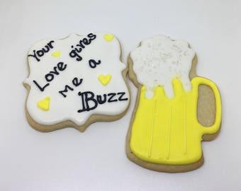 Your love gives me a buzz Cookies Dozen