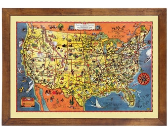 Greyhound bus map | Etsy