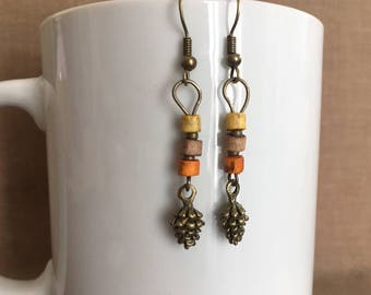 Fall is in the Ear earrings... Extreme Decaf  ... FREE U.S. SHIPPING