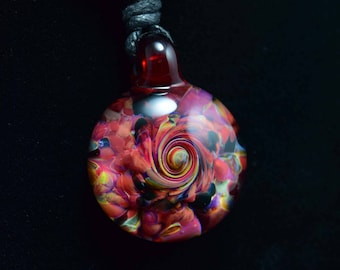 Borosilicate Glass Twisted Frit Pendant