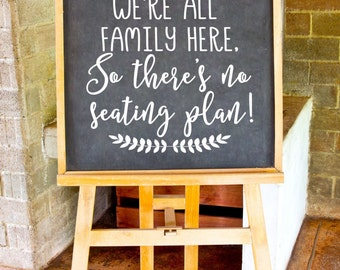 Come As You Are Decal, Reception Seating Sticker, No Seating Plan Chalkboard Letters, DIY Wedding Craft, DECAL ONLY, Wedding Seating Sign