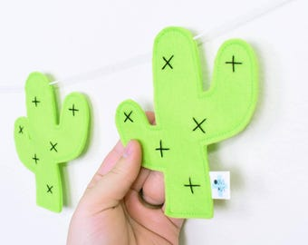 Cactus Room Decor - Lime Green Nursery Decor - Kids Room Decor - Playroom Decor - Cactus Garland - Cactus Banner - Cactus Bunting - Bunting