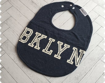 Brooklyn New York Baby Bib, Recycled T-Shirt Baby Bib, New Baby Gift, Baby Shower Gift, Brooklyn Baby