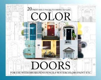 Art Coloring Book, Doors