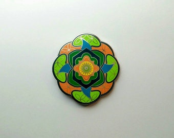 Geometric Flower of Life Design Hat Pin