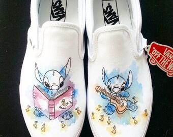 Disney Lilo And Stitch Ohana Custom Made Hand Painted Wedding Shoes