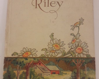 Poetry, Gems from Riley, Book, Hard Cover,Illustrated, Vintage, Out of Print