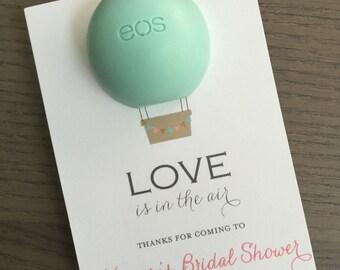 Hot Air Balloon EOS Lip Balm Holder for Party Favors (20 Printed Card)