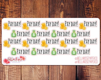 Payday Planner Stickers, Inspired By Erin Condren Planner Stickers, Happy Planner Stickers, Planner Stickers